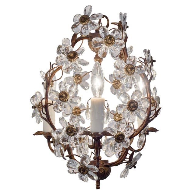 Vintage Baguès Crystal Chandelier For Sale - Image 10 of 10