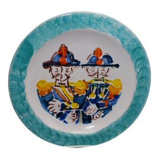 DeSimone, Hand-Painted Plate Depicting 19th Century Carabinieri For Sale