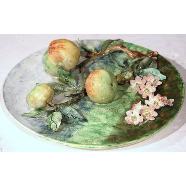 French Late 19th Century French Barbotine Wall Platter For Sale - Image 3 of 10