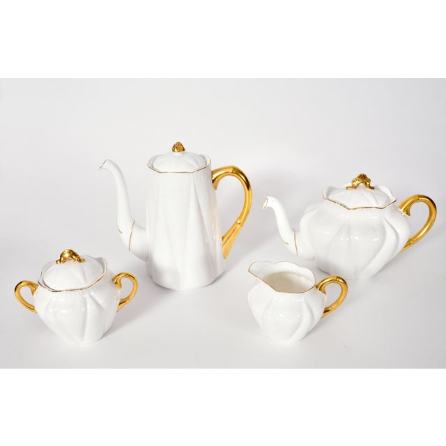Vintage English Porcelain Tea / Coffee Service Service for 12 People - 36 Pc. Set For Sale - Image 10 of 13