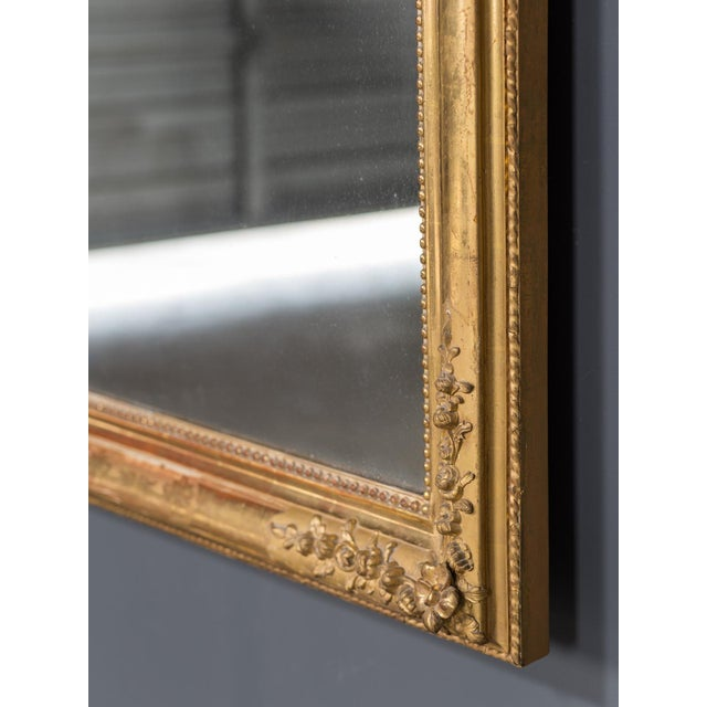 Gold Antique French Louis Philippe Gold Leaf Mirror circa 1870 For Sale - Image 8 of 10