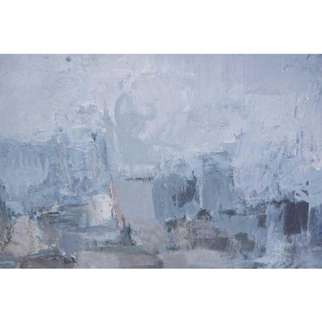 1980s Vintage Moody Painting Attributed to Spanish Artist Gloria Saez For Sale In Houston - Image 6 of 10