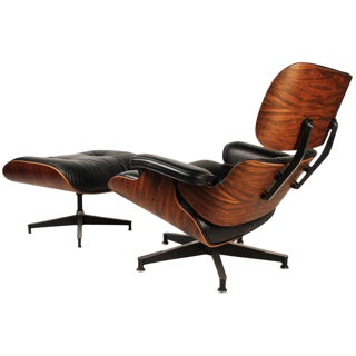 Vintage Rosewood Charles Eames 670 Lounge Chair & 671 Ottoman for Herman Miller