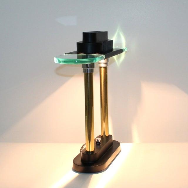 Robert Sonneman Sonneman Post-Modern Banker's Desk Lamp For Sale - Image 4 of 8