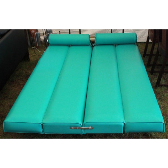 Mid-Century Modern Martin Borenstein Turquoise Daybed Sofa Mid Century Modern C.1960's For Sale - Image 3 of 10