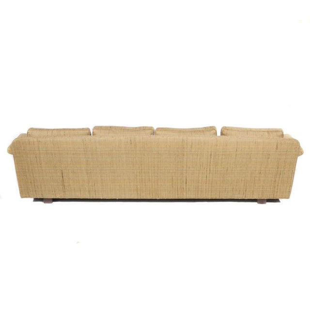 Yellow FOUR-SEAT SOFA BY EDWARD WORMLEY FOR DUNBAR For Sale - Image 8 of 9