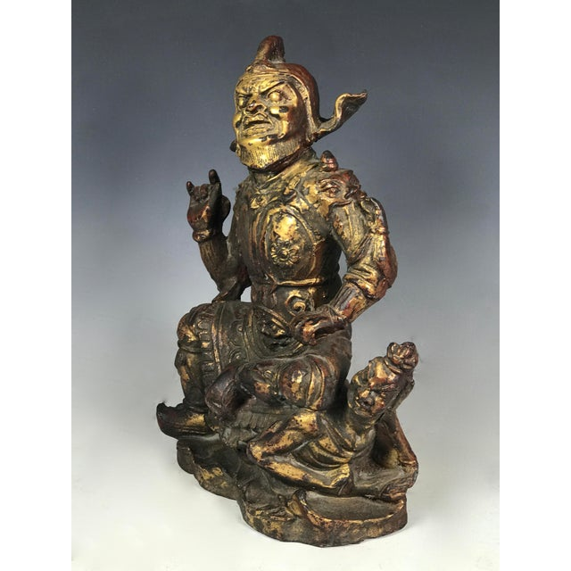 Chinese Art Carved Bronze Warrior For Sale - Image 9 of 11