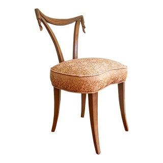1940s Vintage Grosfeld House Vanity Chair For Sale