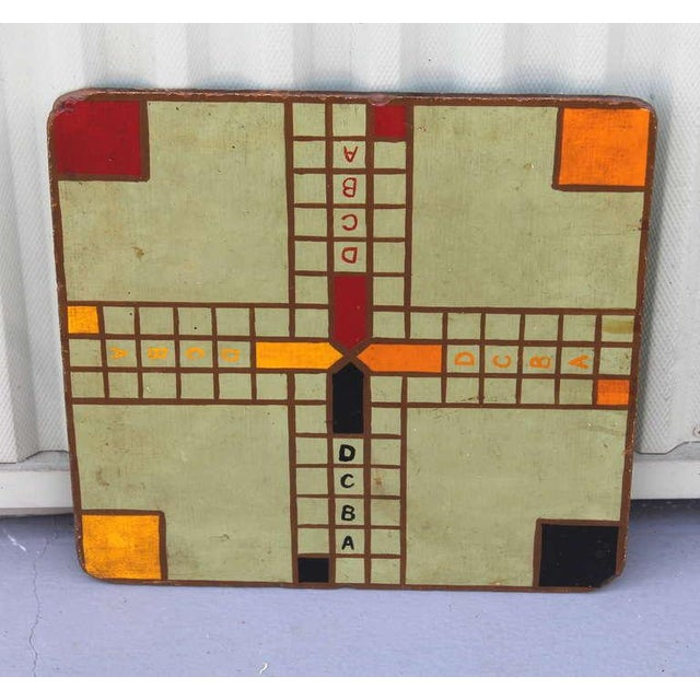 Early 1930s original painted game board. This foly game has ABCD on each side going down the center of the board on each...