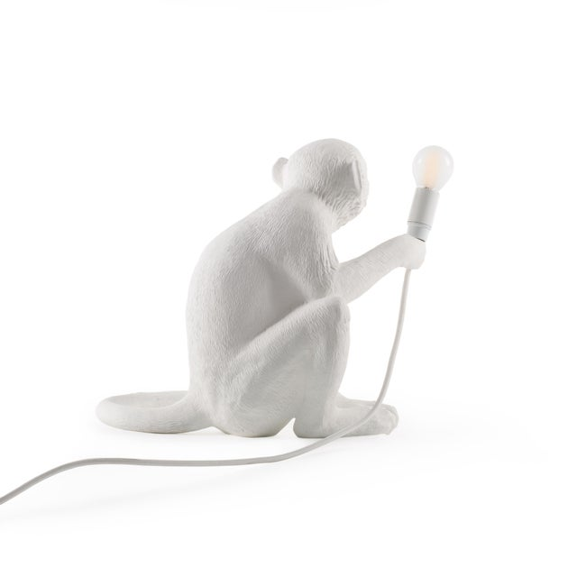 Seletti Seletti, Sitting Monkey Lamp, White, Marcantonio, 2016 For Sale - Image 4 of 11