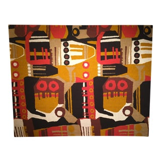 Mid Century Modern Vintage Tapestry For Sale