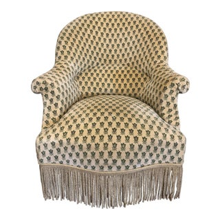 1930's French Napolean III 'Crapaud' Chair