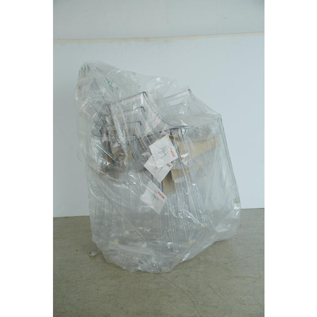 Transparent Louis XVI Ghost Chairs by Philippe Starck for Kartell, Unused With Original Tags, 12 Available For Sale - Image 8 of 10