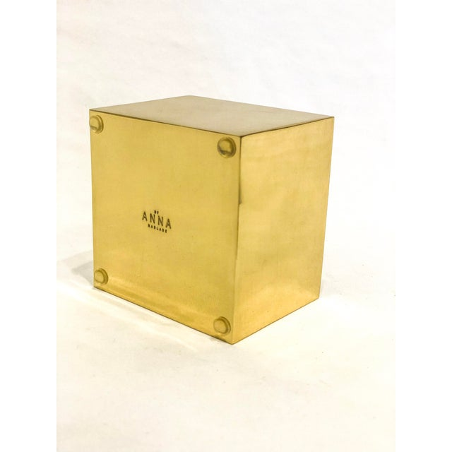 Contemporary Alabaster Topped Brass Box For Sale - Image 3 of 6