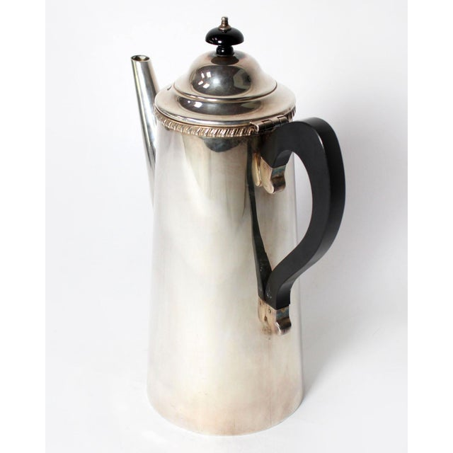 Sheffield Vintage Crafton Sheffield England Sterling Silver Coffee or Tea Pot For Sale - Image 4 of 6