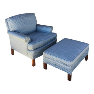 1970s Vintage Lounge Chair & Ottoman For Sale