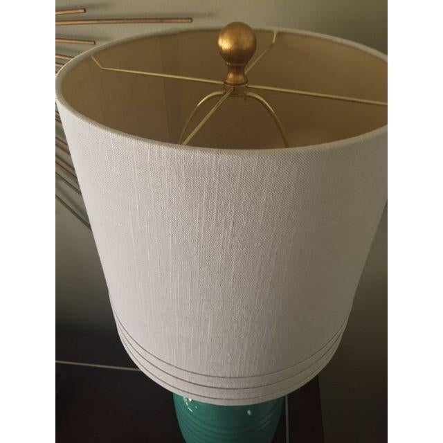 Teal Hollywood Regency Pineapple Lamps - A Pair - Image 3 of 4