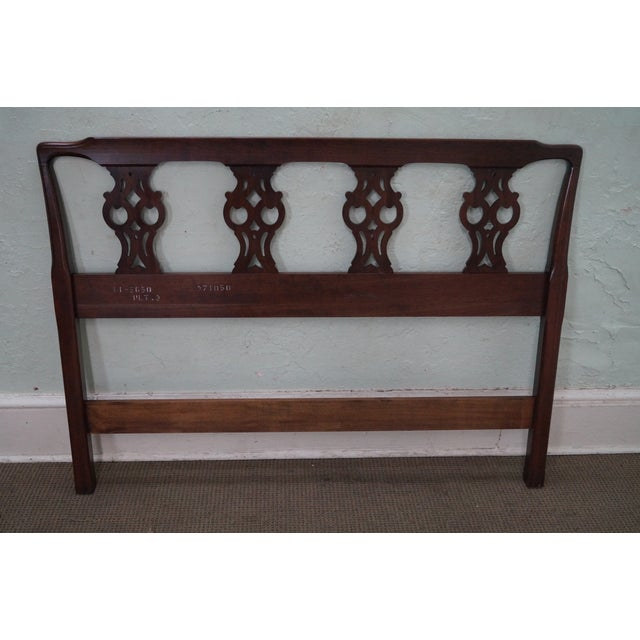 Ethan Allen Georgian Court Chippendale Headboard - Image 5 of 10