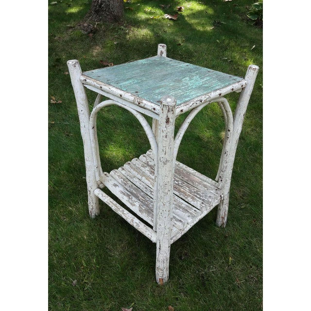 Farmhouse Early 20th Century Rustic Adirondack Side Table For Sale - Image 3 of 8