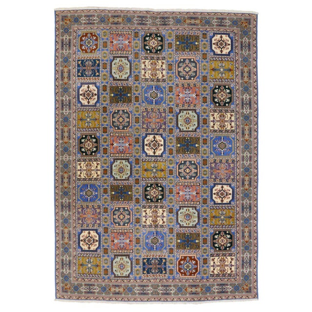 Contemporary Rabat Moroccan Rug With Compartment Design - For Sale - Image 3 of 9