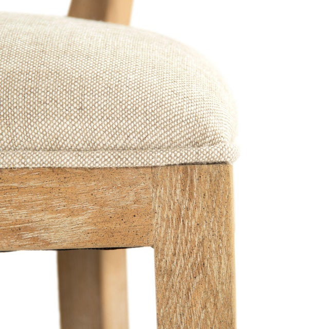 Selborne Counter Stool in Cream For Sale - Image 4 of 6