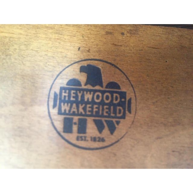 Vintage Heywood-Wakefield Dining Set For Sale - Image 5 of 11