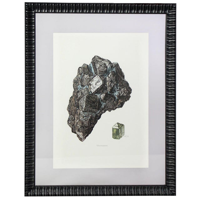 Antique French Gemstone Mineralogy Study Lithographs Prints - Set of 10 For Sale - Image 11 of 13
