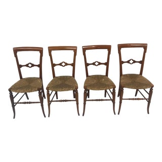 Early 19th Century Vintage Gothic Chairs- Set of 4 For Sale