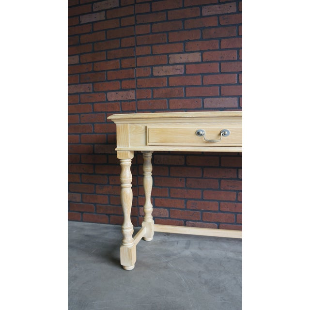 20th Century Cottage Farmhouse Console Table For Sale - Image 6 of 9