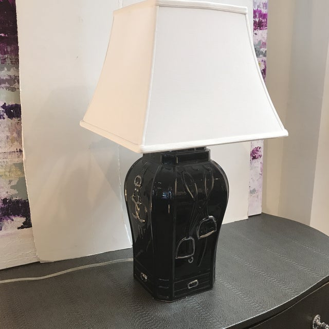 Traditional Equestrian Style Table Lamp For Sale - Image 3 of 7