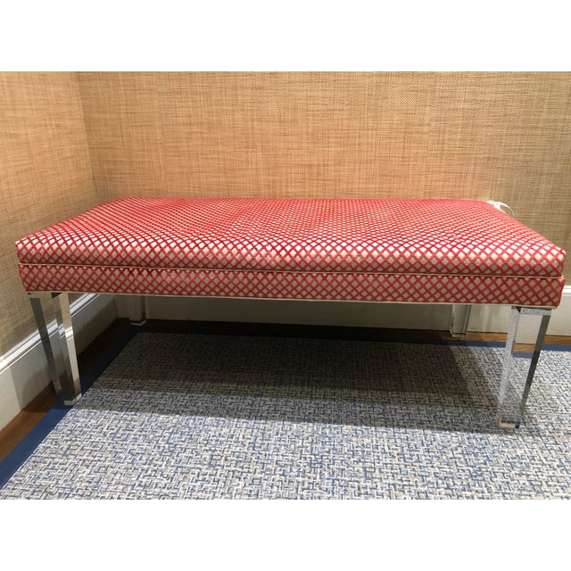 Early 21st Century Vintage NY Sutton Bench For Sale - Image 10 of 10