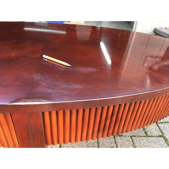 Refinish Ethan Allen Coffee Table: Ethan Allen Oval Wooden Coffee Table