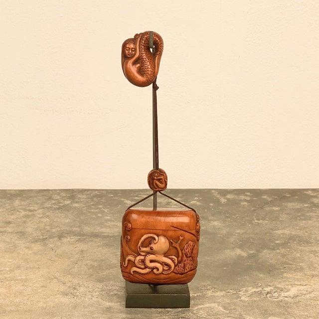 Brown Vintage Taisho Inro, Japan Circa 1920 For Sale - Image 8 of 8