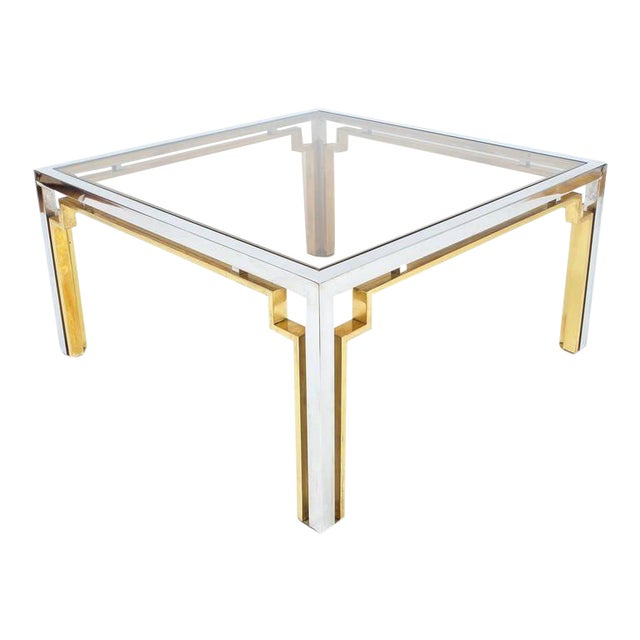 Exquisite Double-Frame Coffee Table Attributed to Romeo Rega For Sale