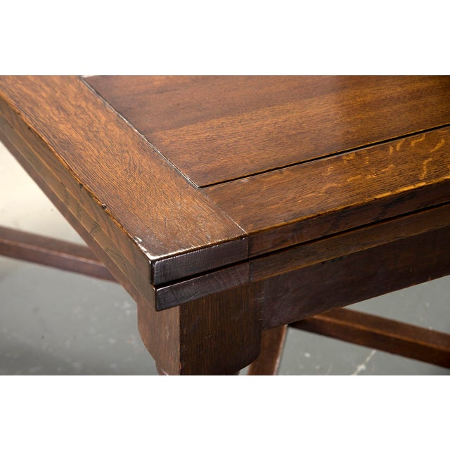 Brown Dutch Oak Refectory Table With Large Barley Twist Legs For Sale - Image 8 of 11