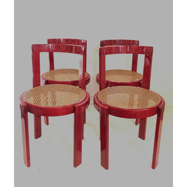 Mid-Century Modern Vintage Italian Dining Chairs in the Manner of Scarpa For Sale - Image 3 of 12