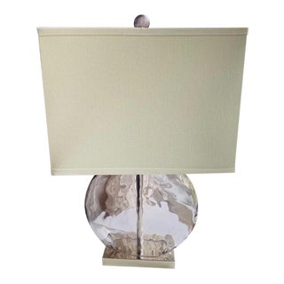 Bromley Amethyst and Satin Nickel Table Lamp For Sale