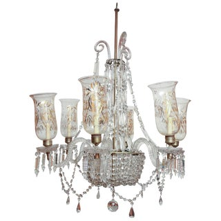 Late Regency Crystal Chandelier For Sale