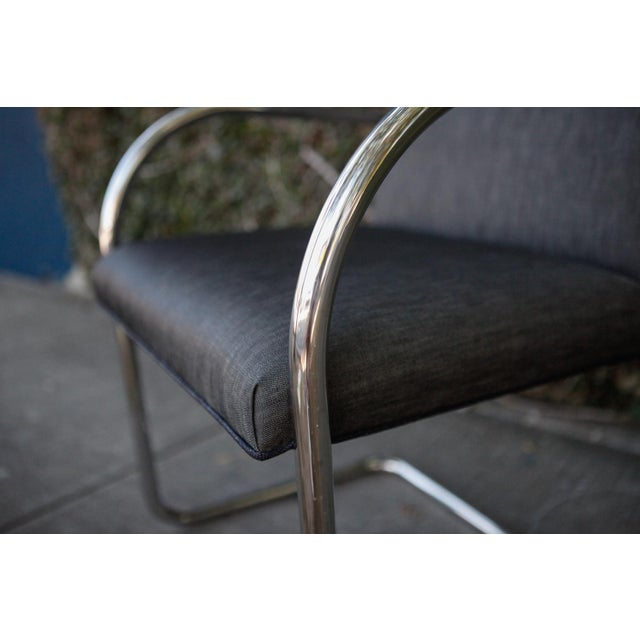 Modern Chrome Base Chair For Sale In Los Angeles - Image 6 of 7