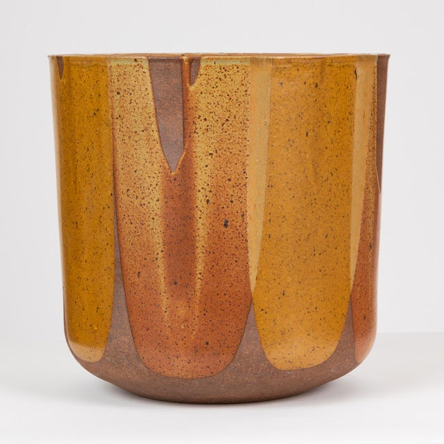 Architectural Pottery Malcolm Leland Lt-24 Flame-Glazed Planter for Architectural Pottery For Sale - Image 4 of 10