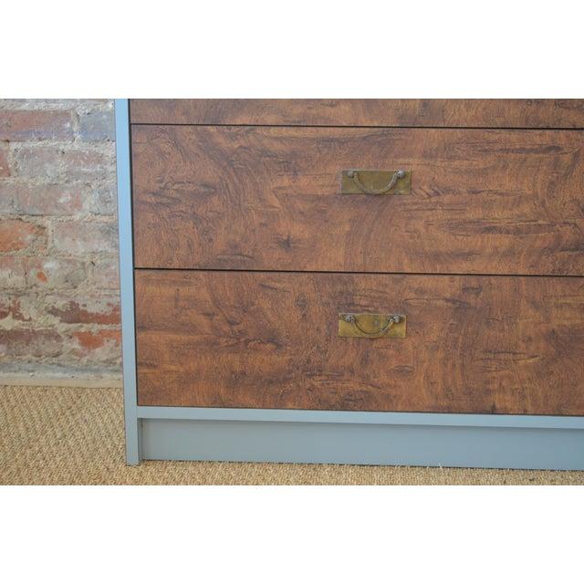 Vintage Laminate Burlwood Chest - Image 4 of 8