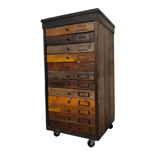 Industrial Hand-Made Machinist Cabinet For Sale