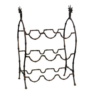 Bagues Faux Bamboo Wine Rack For Sale