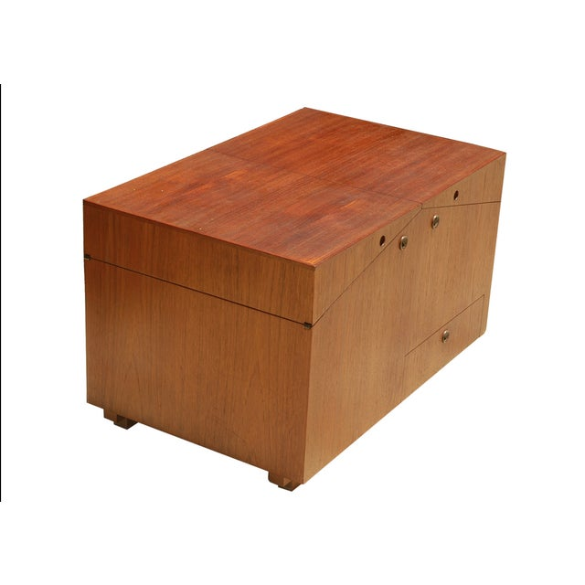 Mid Century Modern Bar Case Cubic Table By Dyrlund - Image 3 of 3