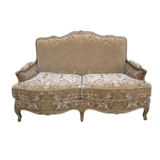Vintage French Sofa Loveseat Couch Settee For Sale