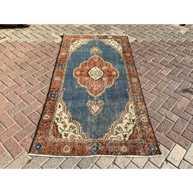 Vintage Hand Knotted Turkish Area Rug For Sale - Image 10 of 10