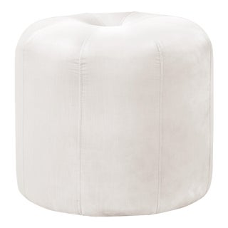 Seamed Ottoman in Titan Snow For Sale