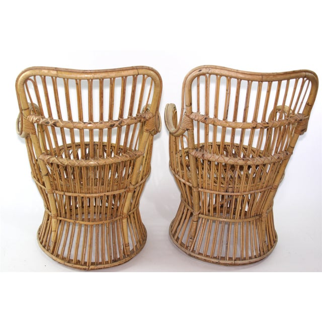 Franco Albini Style Rattan Chairs - A Pair - Image 5 of 11