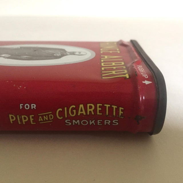 """Lithograph Vintage 1970's """"Prince Albert Crimp Cut"""" Lithograph Tobacco Tin Oval Box For Sale - Image 7 of 11"""