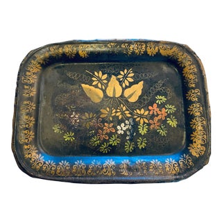 Early 20th Century Chippendale Tole Flower Tray For Sale